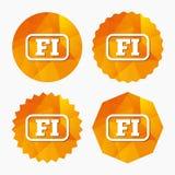 Finnish language sign icon. FI translation. Royalty Free Stock Images