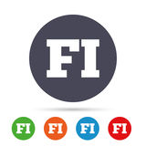 Finnish language sign icon. FI translation. Stock Photo