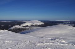 Finnish Lapland. Beautiful landscape with fells in Lapland, Finland stock photos