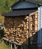 Finnish log pile Royalty Free Stock Photo