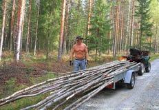 Finland: Cowboy logger Stock Photos