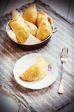 Finnish meat pastry Stock Photos