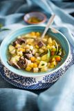 Finnish meat and potatoes soup Royalty Free Stock Photos