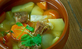 Finnish meat soup Stock Images