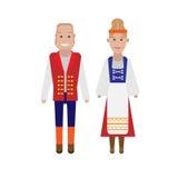 Finnish national costume. Illustration of national dress on white background Royalty Free Stock Photo