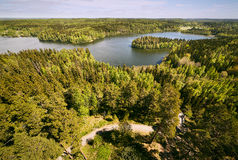 Finnish national landscape view at Aulanko nature park in Finland Stock Photography