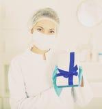 Finnish nurse at work Royalty Free Stock Image
