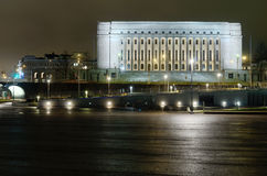 Finnish parliament building at night Royalty Free Stock Photo
