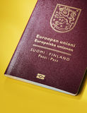 Finnish Passport Stock Images