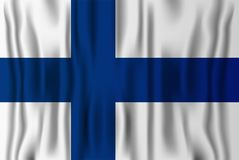 Finnish realistic flag vector illustration. Finland independence. National day Stock Photo