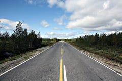 Finnish road Stock Photography