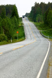 Finnish road in spring Royalty Free Stock Image