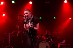 Finnish rockers Poets of the Fall live on stage Royalty Free Stock Images