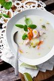 Finnish salmon soup Royalty Free Stock Image