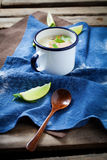 Finnish salmon soup Royalty Free Stock Images
