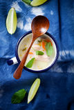 Finnish salmon soup Stock Images