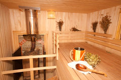 Finnish sauna Royalty Free Stock Images