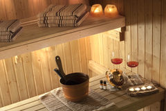 Finnish Sauna Stock Photo
