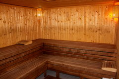 Finnish sauna Stock Images