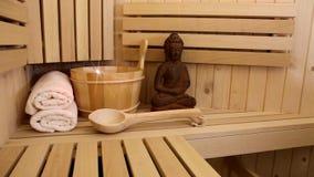 Finnish sauna stock video footage