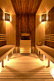 Finnish sauna. In a SPA Centre Stock Photography