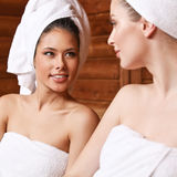 Finnish sauna stock image
