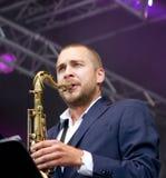 Finnish saxophonist Timo Lassy Stock Image