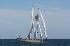Finnish schooner Helena sailing Royalty Free Stock Images