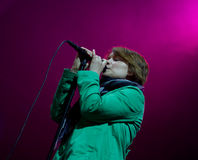 Finnish singer Emma Salokoski live on stage Royalty Free Stock Photography