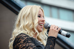 Finnish singer. Finnish female singer Krista Sigrfried Royalty Free Stock Photos