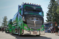 Finnish Super Show Truck Highway Hero Stock Photos