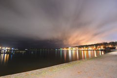 Finnish town Lappeenranta in evening lights Stock Image