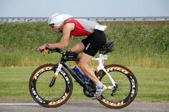 Finnish triathlete at Ironman Sweden 2012 Royalty Free Stock Image