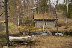 Finnish village Stock Photography