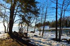 Finnish winter ,Lauttasaari Royalty Free Stock Image