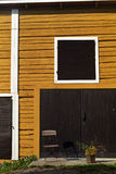 Finnish wooden architecture. Vertical and horizontal house line Royalty Free Stock Photography