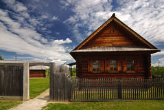 Finnish wooden house Royalty Free Stock Photos