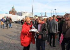 Finnland: El hacer campaña finlandés famoso del político Fotos de archivo libres de regalías