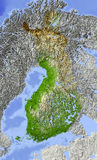 Finnland, Entlastungskarte Stockfoto