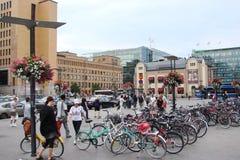 finnland Hauptstadt von Helsinki Die Landschaft von historischen Gebäuden, von religiösen Gebäuden, von zentralen Straßen und von lizenzfreies stockbild