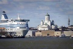 Finnland: Helsinki vom Meer stockbilder