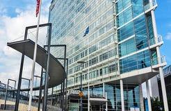 FINNLAND, JYVASKYLA - 18. AUGUST 2017: Modernes Gebäude von Innova lizenzfreies stockfoto