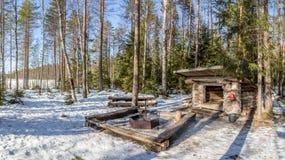 Finnland-Kamin lizenzfreie stockfotografie