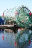 Finnland. Netze eines Fischens stockfotos