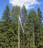 Finnland, Nord-Ostrobothnia: Regionaler Haushalts-Wimpel Lizenzfreies Stockfoto