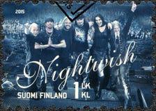 FINNLAND - 2015: Shows Nightwish, Reihe sechs international erfolgreiche finnische Rockbände Lizenzfreie Stockfotos