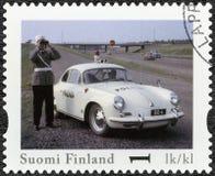 FINNLAND - 2013: Shows Porsche 356 B, offizieller Weinlese-Polizeiwagen Reihe Finnlands Lizenzfreie Stockbilder