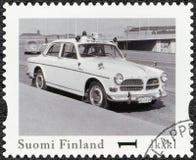 FINNLAND - 2013: Sport Shows Volvos Amazonas, offizieller Weinlese-Polizeiwagen Reihe Finnlands Lizenzfreies Stockfoto