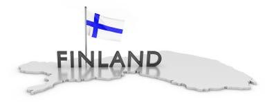 Finnland-Tribut lizenzfreie abbildung