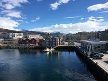 Finnsnes,挪威镇  免版税库存图片